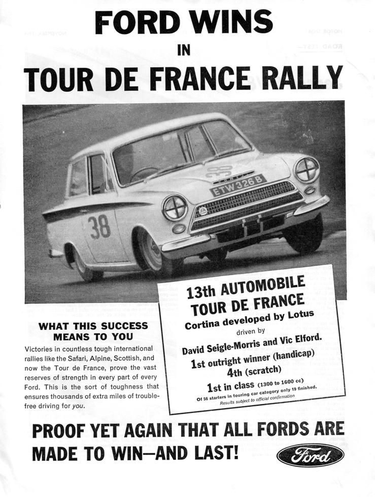 30.1 641100 Motor Sport Ad Lotus Cortina