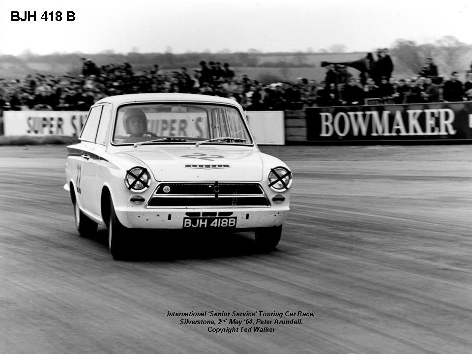 50.1.27 V3 BJH 418B Peter Arundell Lotus Cortina