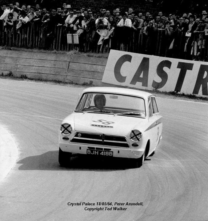 50.1.28 V3 BJH 418B Peter Arundell Lotus Cortina