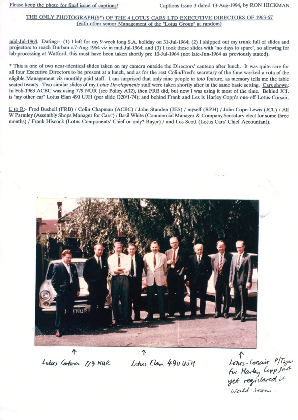 Lotus Cheshunt 1964 directors