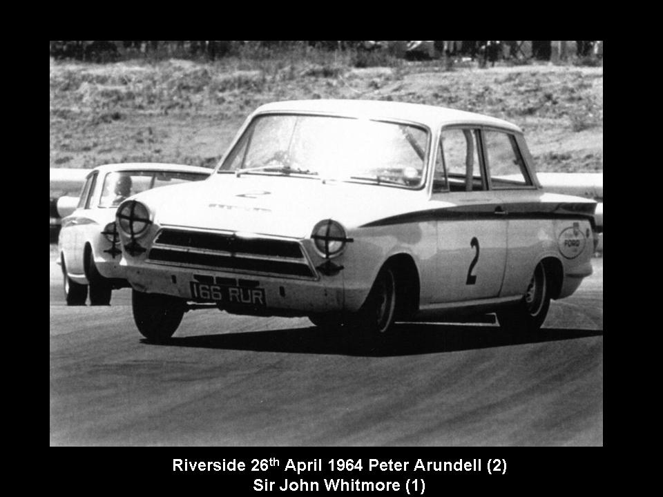 50.1.37 USA Lotus Cortina 10 Riverside 6404 Peter Arundell John Whitmore