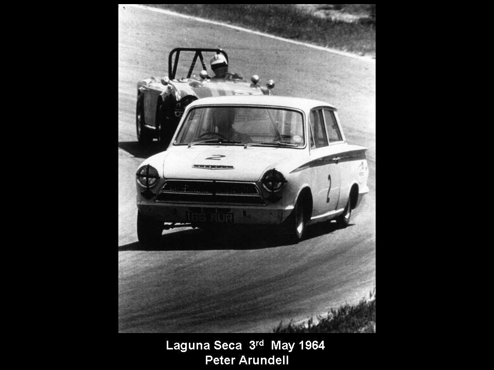 50.1.37 USA Lotus Cortina 15 Laguna  Seca 6405 Peter Arundell