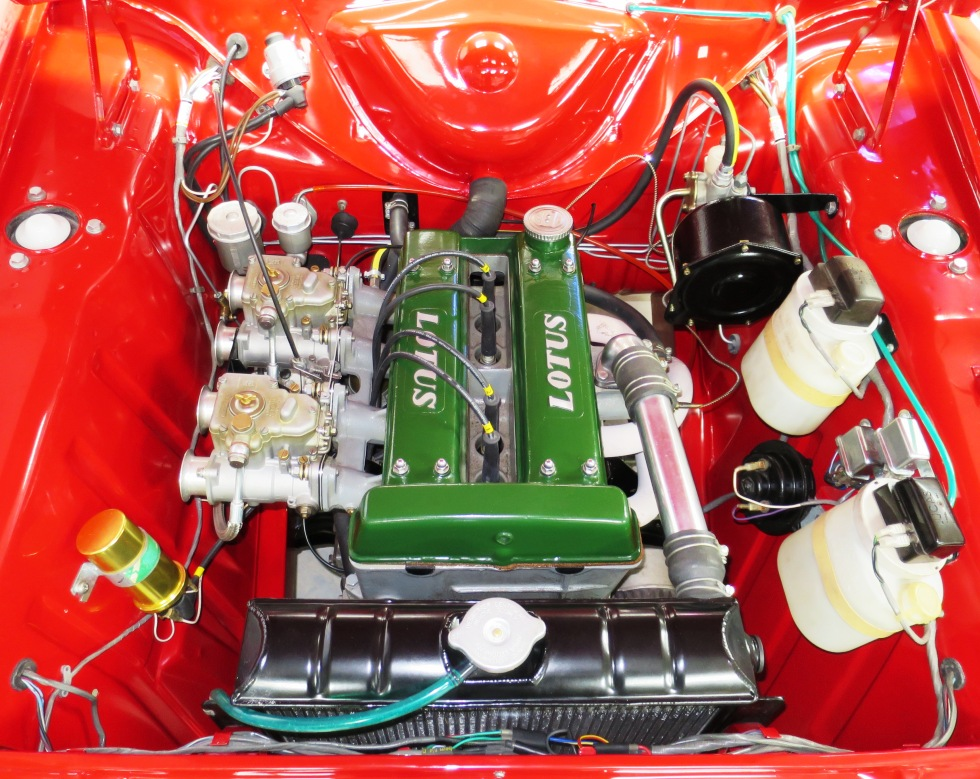 Lotus Cortina Mk1 Aeroflow A Frame Monaco Red 17