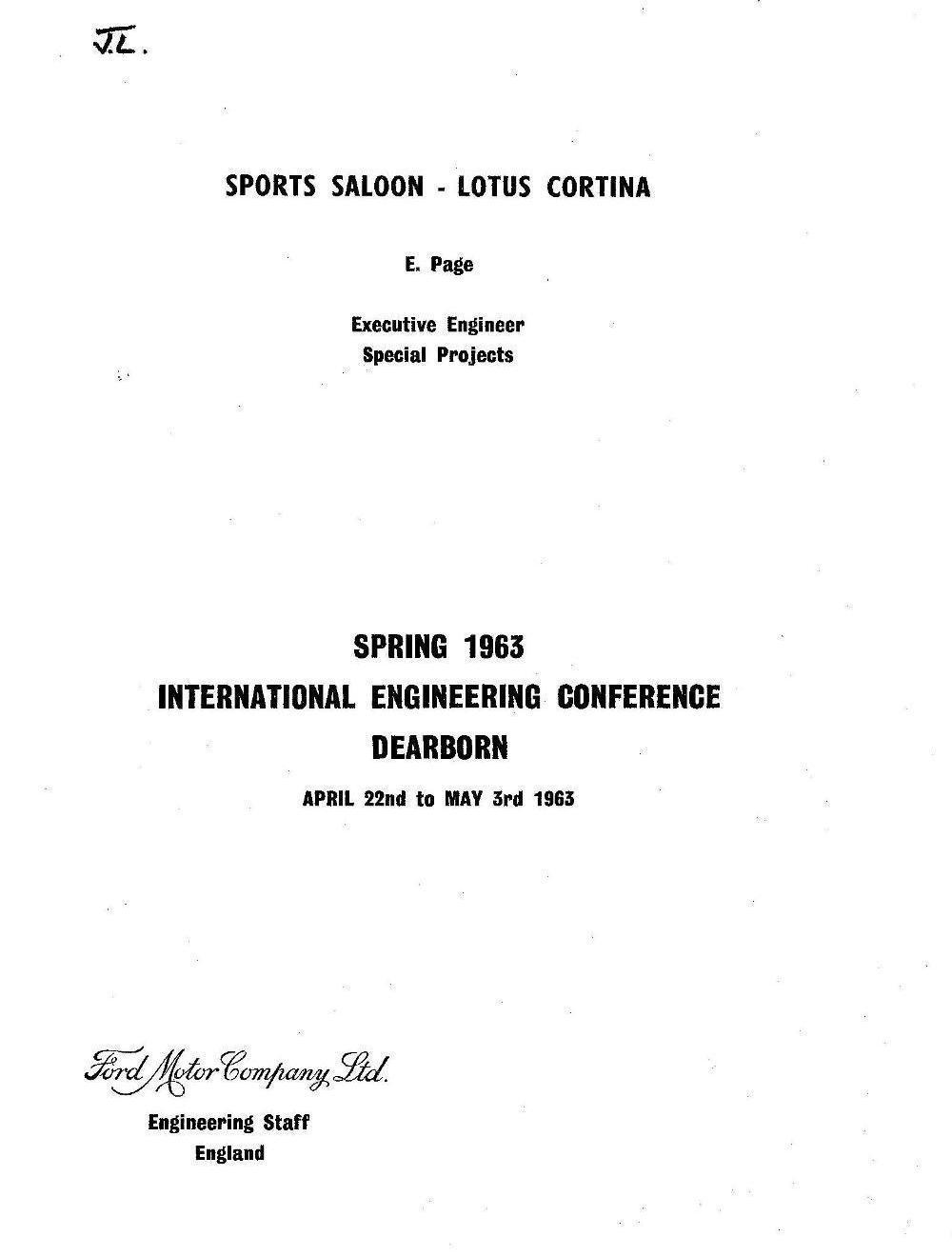 Lotus Cortina Engineering 0001