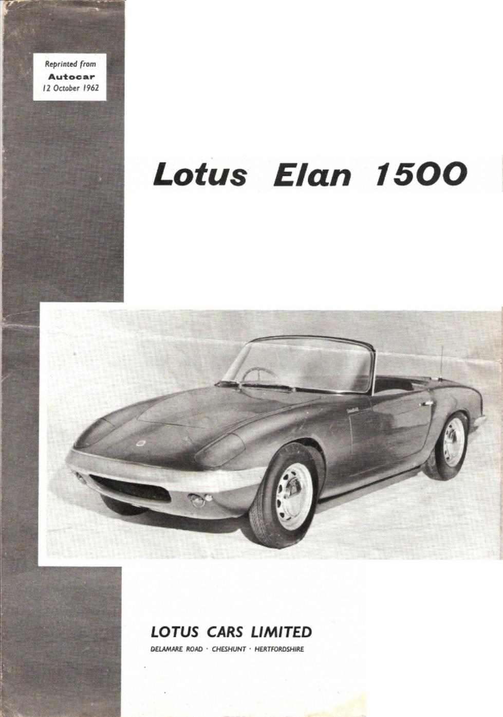 Elan Launch Autocar Oct 62 1