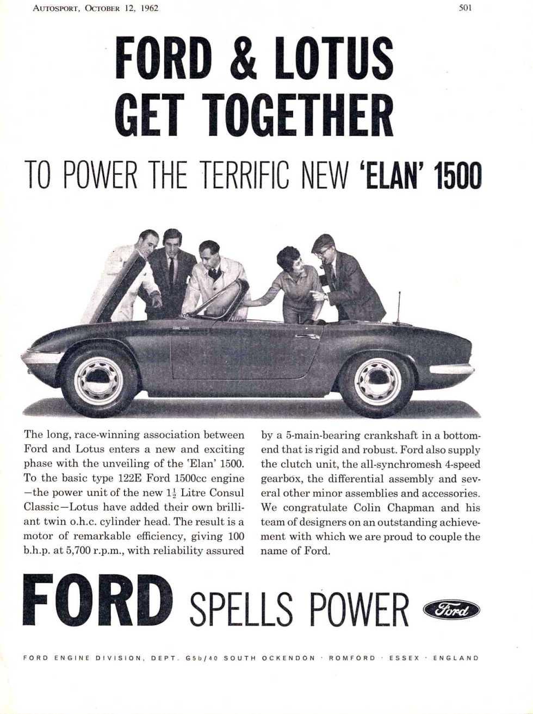 Lotus Elan Ford Press Release advert